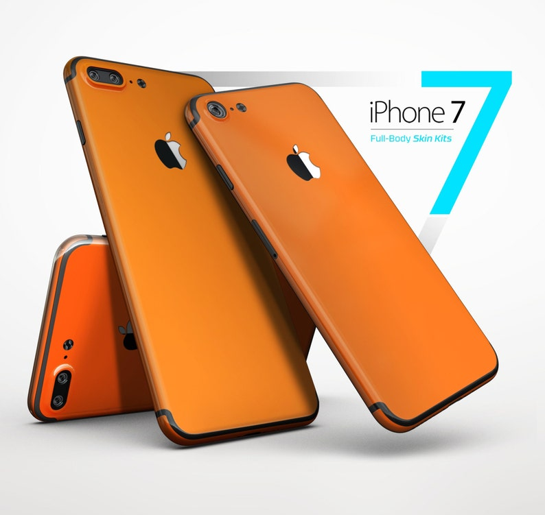 1744bc58ba79a Solid Burnt Orange - Skin Kit for the iPhone X, 8/8 Plus, 7/7 Plus, 6/6s  Plus, 5/5s/SE, Galaxy Note 8, S8 & More