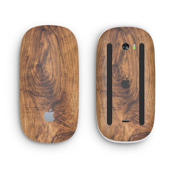 Design Skinz Premium Vinyl Decal for The Apple Magic Mouse 2 Wireless, Rechargable Raw Wood Planks V13 with Multi-Touch Surface