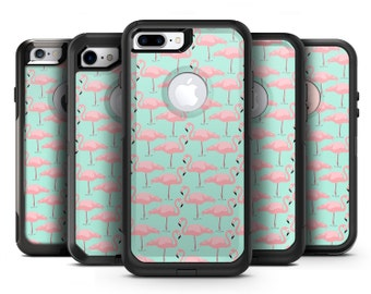 Tropical Twist Flamingos v7 - OtterBox Case Skin-Kit for the iPhone, Galaxy & More