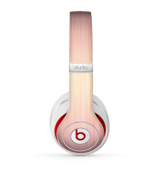 The Rose Gold Brushed Surface Skin For Beats By Dre Studio 3 Etsy