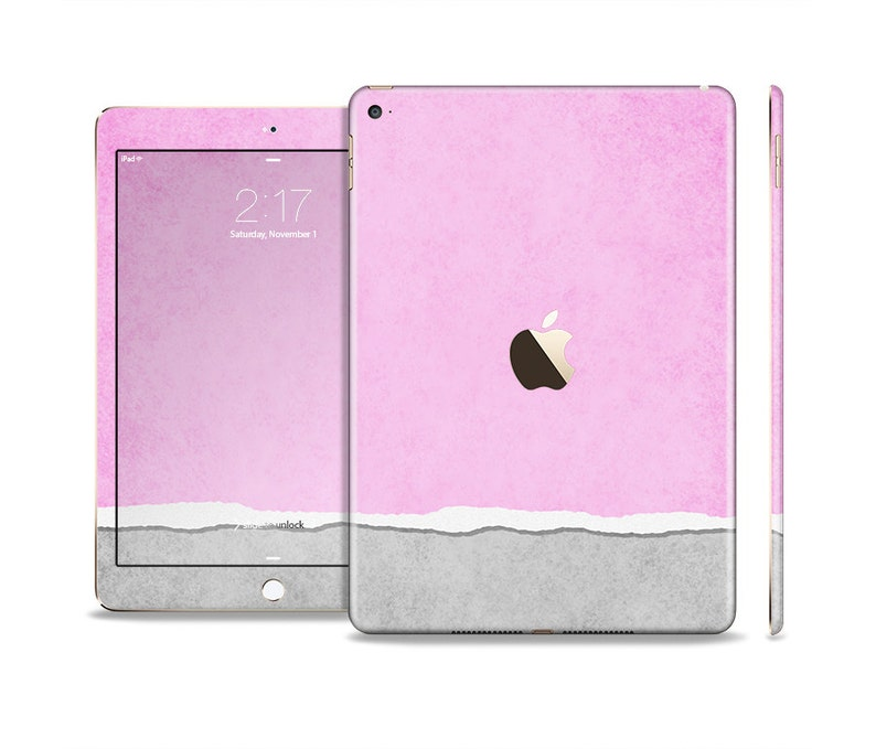 All Models Available The Vintage Gray /& Pink Texture Skin Set for the Apple iPad