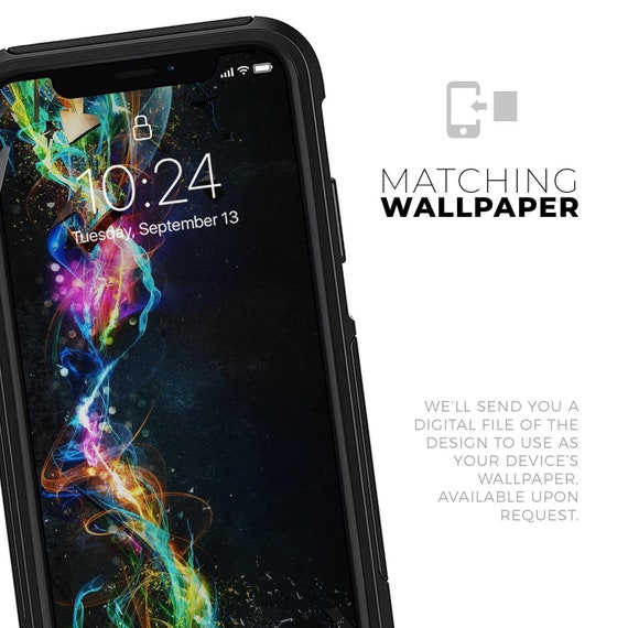 Neon Motion Lights Skin Kit For The Iphone Xs Max Galaxy Note 9 And Other Otterbox Cases