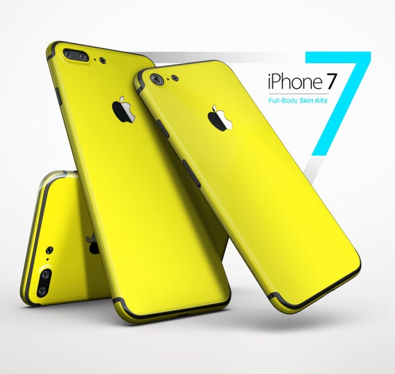 hot sale online 6cd96 b4147 Solid Yellow - Skin Kit for the iPhone X, 8/8 Plus, 7/7 Plus, 6/6s Plus,  5/5s/SE, Galaxy Note 8, S8 & More