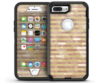 Pink Watercolor Grunge with Gold Stripes - OtterBox Case Skin-Kit for the iPhone, Galaxy & More