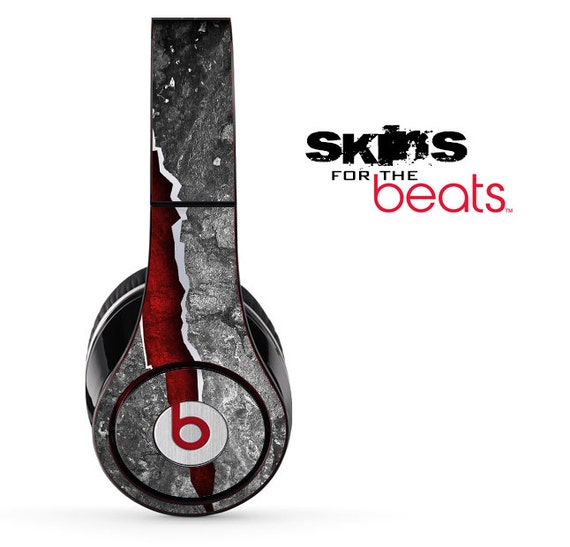 Cracked Red Core Skin For Beats By Dre Studio 3 Solo 3 Etsy