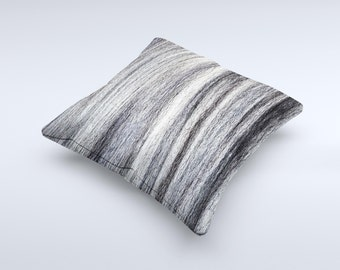 The Strands of Dark Colored Hair ink-Fuzed Decorative Throw Pillow