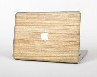 The LightGrained Hard Wood Floor Skin for the Apple MacBook Air- Pro or Pro with Retina Display (Choose Version)