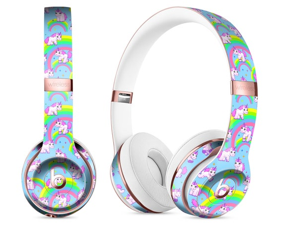 Magical Cartoon Unicorns Decal Skin Kit For The Beats By Dre Etsy