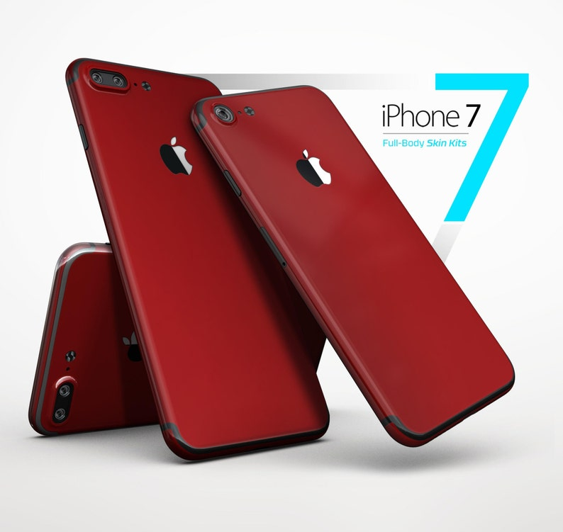 Solid Dark Red Skin Kit for the iPhone X 8 8 Plus 7 7  b179c077c