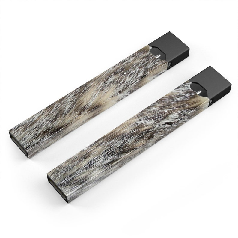 Furry Animal Premium Decal Protective Skin-Wrap Sticker compatible with the Juul Labs vaping device
