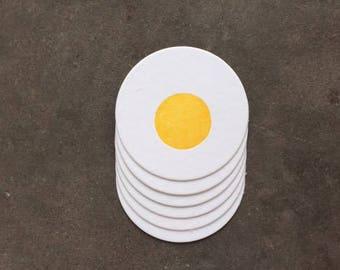 Coaster-  Fried Egg, Letterpress Printed