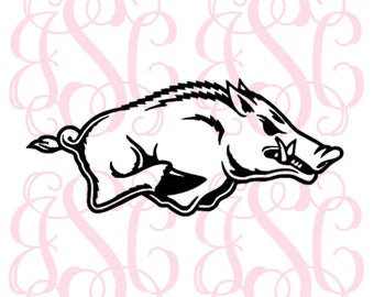 Arkansas Razorback vinyl decal