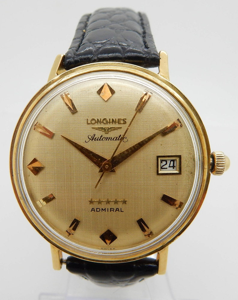 Star 505 Mens 5 Cal Admiral Yellow Longines 18k Automatic GoldEtsy KcFJT1l3