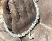 Crystal Bracelet Fluorite Jade Pyrite Black Tourmaline Green Aventurine Clear Quartz Seafoam Jasper Shell