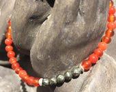 Bracelet: Carnelian/Pyrit...