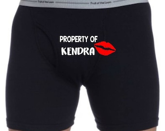 Property Of Boxers - Husband Gift - Gift for Him - Boyfriend Gift - Novelty Boxers - Anniversary Gift - Mens Boxers - Sexy Boxers