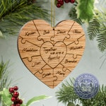 Personalized Family Puzzle Ornament - Custom Family Puzzle Christmas Ornament - Adoption - Blended Family - Foster Parent - Gift for Mom Dad
