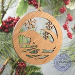 Alligator Christmas Ornament - Gator Silhouette Ornament - Snapping Alligator - Alligator Ornament - Swamp Gator Ornament - Bayou Ornament
