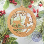 Monkey Christmas Ornament - Monkey Silhouette - Monkey Business - Playful Monkeys - White Oak Monkey Ornament - Jungle Ornament