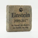 "Personalized Memorial Paver Stone 7"" - Custom Engraved Garden Stone - Engraved Marker -Engraved Tumbled Stone - Custom Sandcarved Rock"