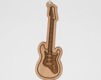 Stratocaster Guitar Keychain - Fender Stratocaster Electric Guitar Engraved Key  Ring - Electric Guitar Wooden Charm - Fender Guitar Charm 48f77f7f2