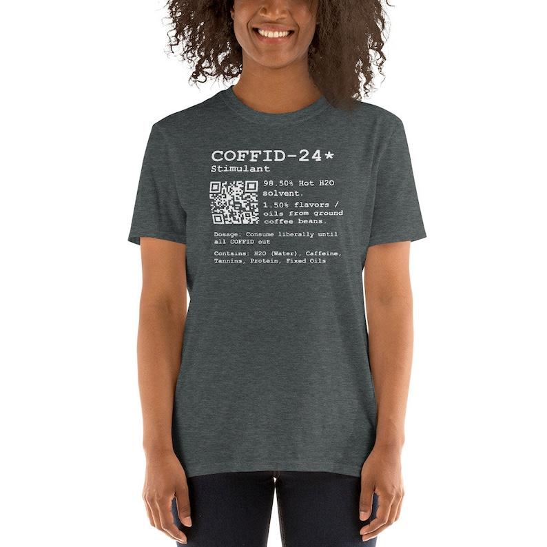 Coffee Caffeine Rx T-Shirt  Coffee Shirt  Coffid Out Shirt  Dark Heather
