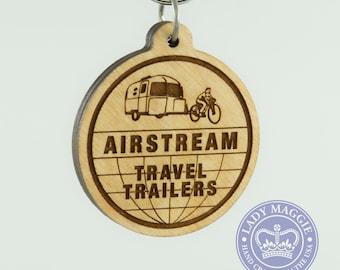 Retro Airstream Keychain - Airstream Bambi Keyring - Airstream Keychain - Airstream Camper - Airstream Travel Trailer Keychain - Vintage