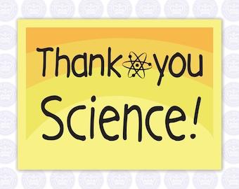 Thank You Science Decal - Teacher Decal - Darwin Decal