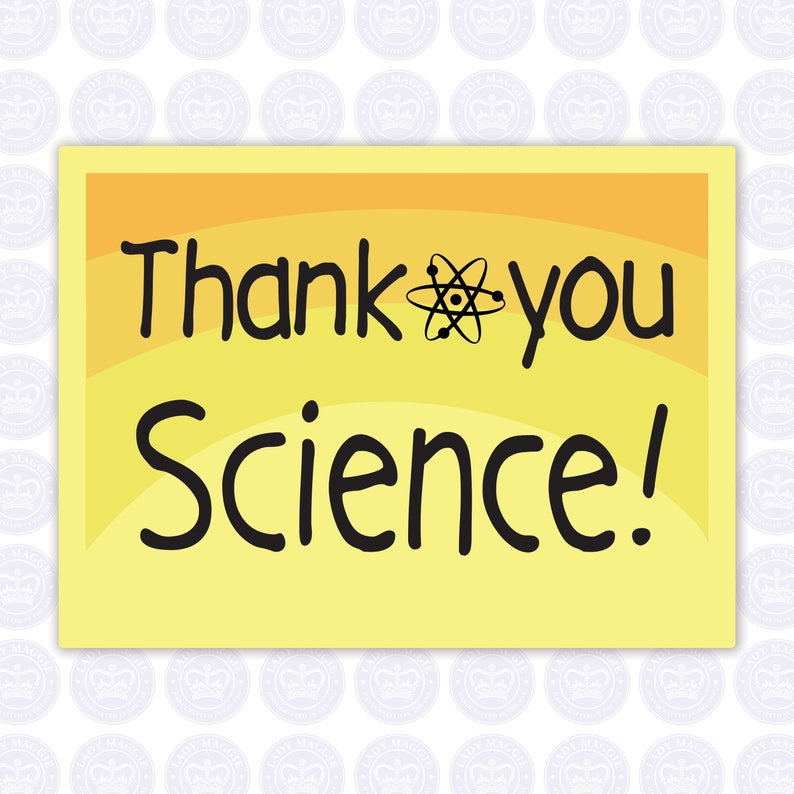 Thank You Science Decal image 0