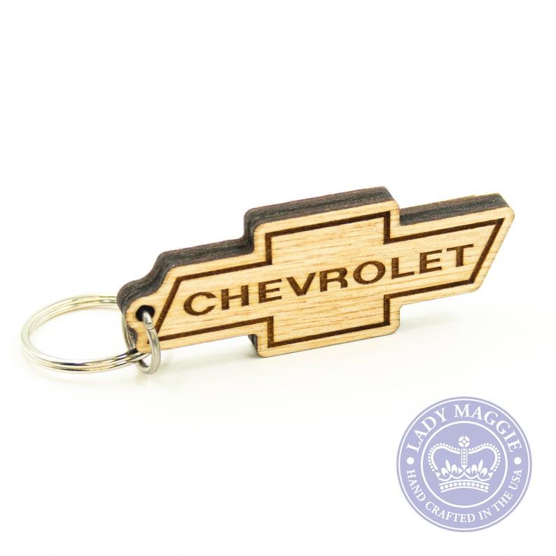 Chevrolet Keychain  Chevy Logo Keyring  Chevy Bowtie image 0
