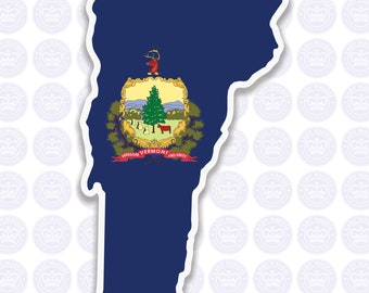 Vermont Decal - VT State Flag Decal - Vermont State Bumper Sticker - State of Vermont Decal - VT Flag Sticker - Vermont Bumper Sticker