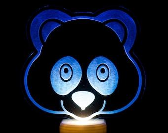 Panda Bear Emoji Night Light - Panda Face Emoji LED Nightlight - Cute Panda Emoji Light - Panda Bear Light