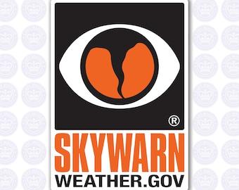 SKYWARN Decal - NWS SKYWARN Storm Spotter Decal - Skywarn Bumper Sticker - Skywarn Spotter Decal - Skywarn Volunteer Sticker - Spotter