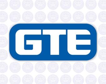 GTE Vintage Logo Bumper Sticker - Retro GTE Decal - General Telephone & Electronics Corporate Logo - Vintage GTE - Telecom Yeti - Lineman