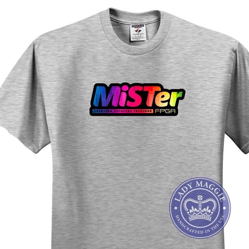 MiSTer T-Shirt  Classic Game Shirt  MiSTer FPGA Gaming Shirt image 0