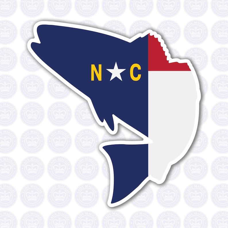 North Carolina Fish Decal  NC Fish State Flag Decal  North image 0