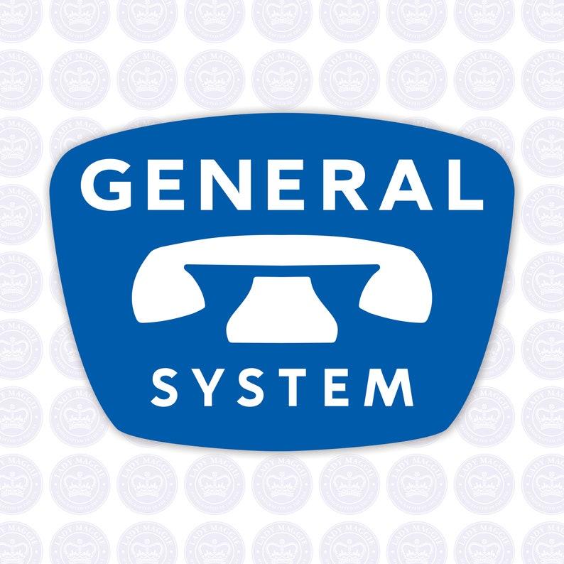 General System Logo Bumper Sticker  Retro General System Logo image 0