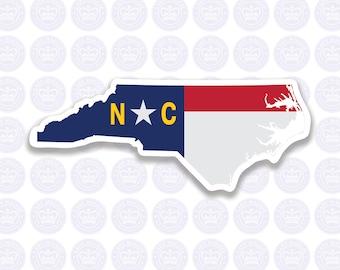North Carolina Decal - NC State Flag Decal - North Carolina State Bumper Sticker - State of NC Decal - NC Flag Decal