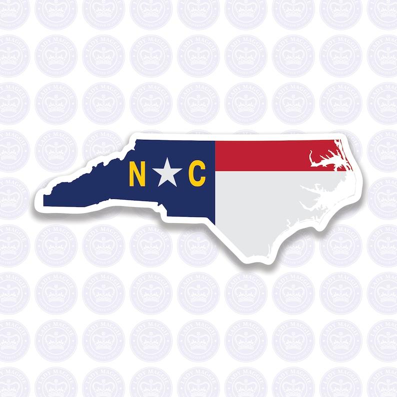 North Carolina Decal  NC State Flag Decal  North Carolina Large