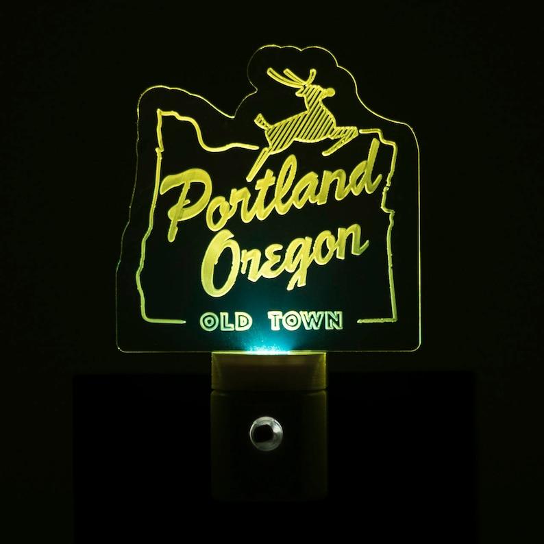 Portland Oregon Old Town Nightlight  Old Town Portland LED image 1