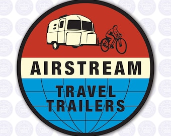 Retro Airstream Decal - Airstream Bambi Decal - Airstream Sticker - Airstream Camper - Airstream Travel Trailers Decal - Vintage Airstream