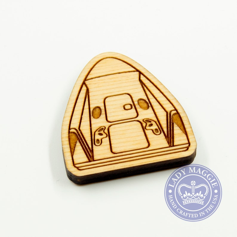 SpaceX Dragon Capsule Magnet  Dragon Magnet  SpaceX Crew image 1