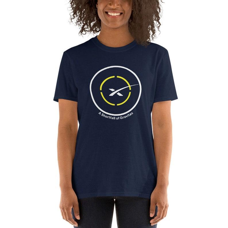 SpaceX Drone Ship A Shortfall of Gravitas T-Shirt Navy