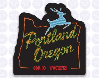 Portland Oregon Old Town Decal - Old Town Portland OR Bumper Sticker - Oregon Decal - Portland OR Decal