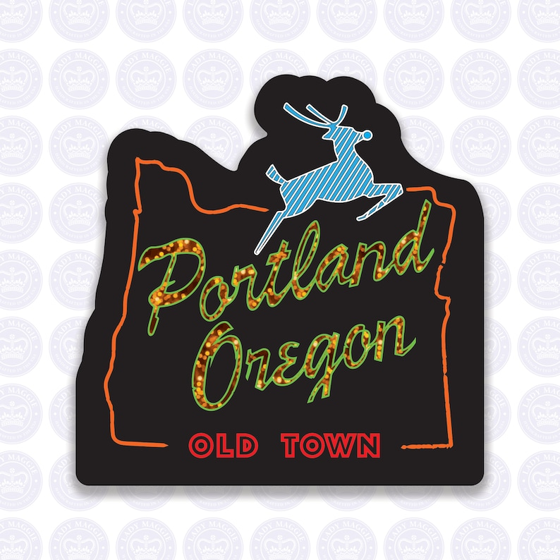 Portland Oregon Old Town Decal  Old Town Portland OR Bumper image 1