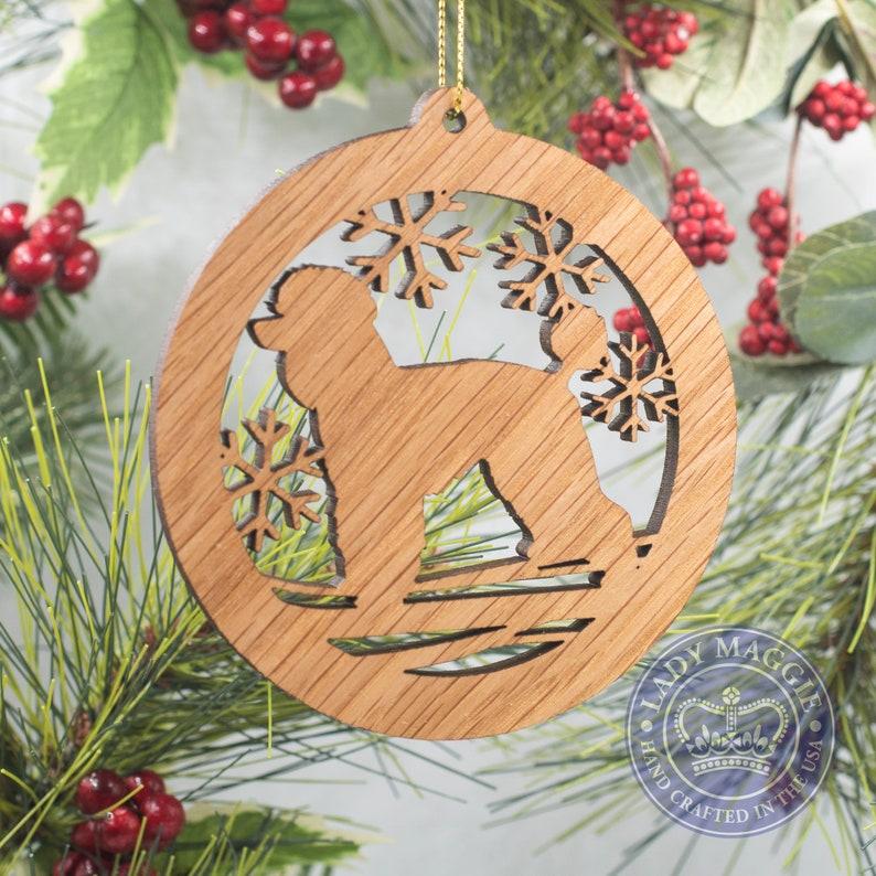 Poodle Christmas Wood Ornament  Standard Poodle Silhouette Standard ornament