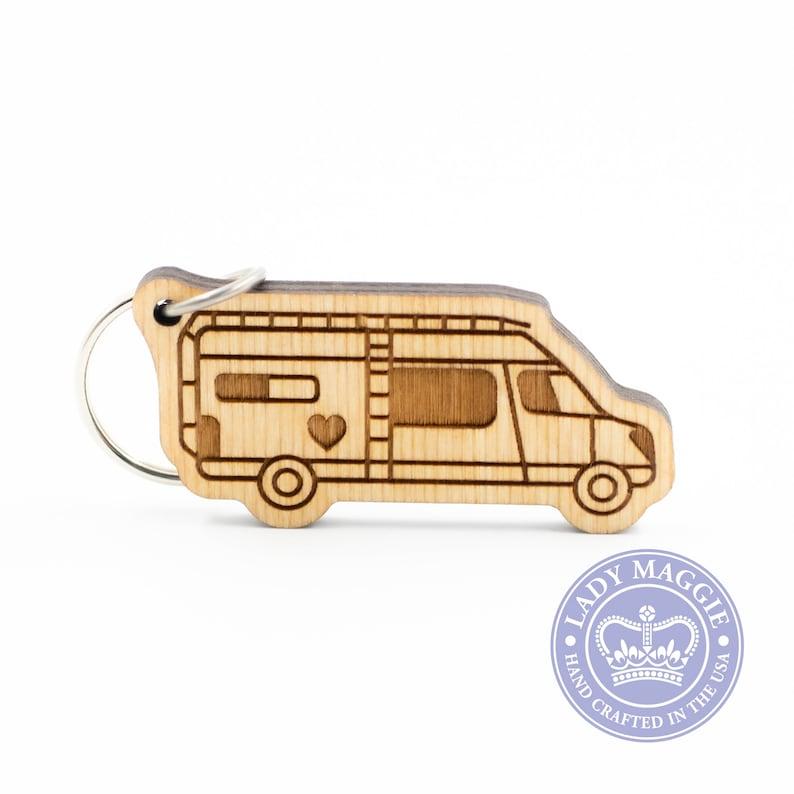 Class B Camper Keychain  VanLife Keychain  Camper Van Charm image 0