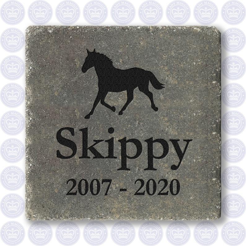 Pet Horse Memorial Stone 7  Custom Engraved Memorial image 0