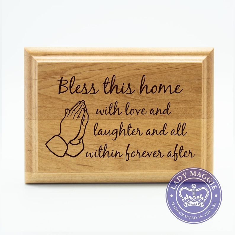 Bless This Home Sign  Welcome Sign  Front Door Welcome image 0