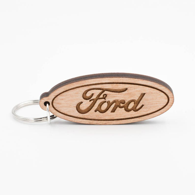 Ford Keychain  Ford Logo Keyring  Engraved Ford Logo  Ford image 0
